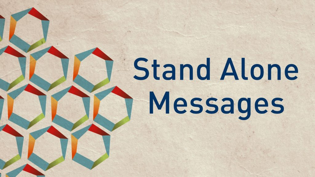 stand alone messages web