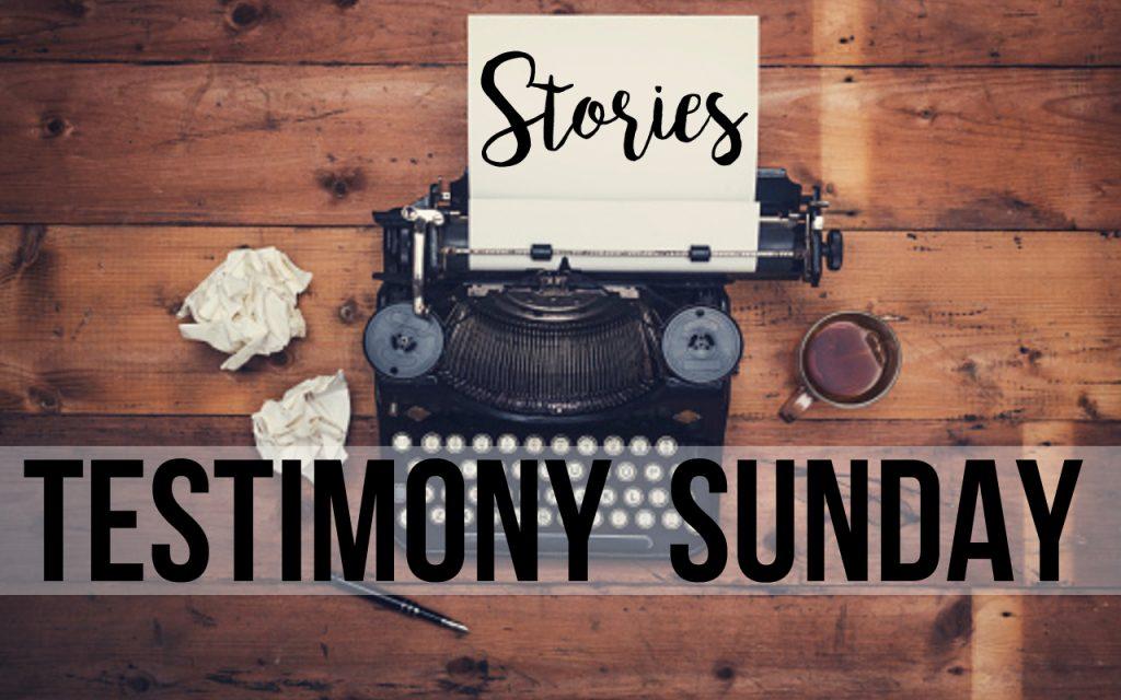 testimony+sunday